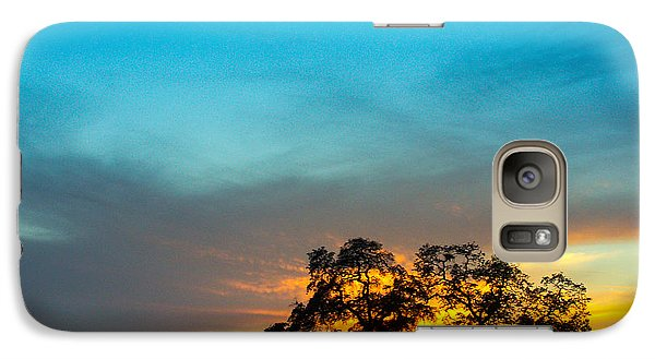 Galaxy Case featuring the photograph Oaks And Sunset 2 by Terry Garvin