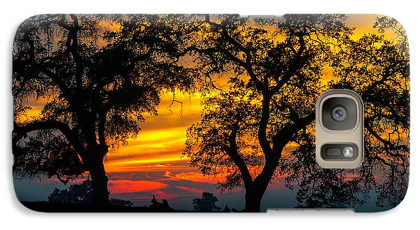 Galaxy Case featuring the photograph Oaks And Sunset by Terry Garvin