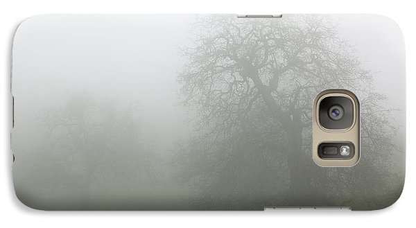 Galaxy Case featuring the photograph Oaks In Fog - Central California by Ram Vasudev