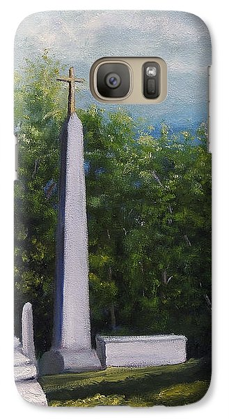 Galaxy Case featuring the painting Oakwood Cemetery Jefferson Texas by Lenora  De Lude