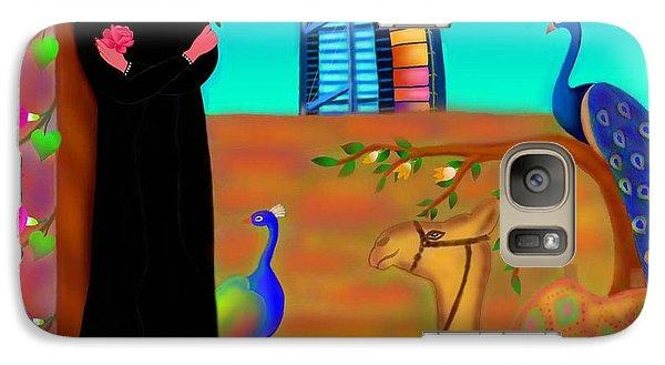 Galaxy Case featuring the digital art Oasis by Latha Gokuldas Panicker