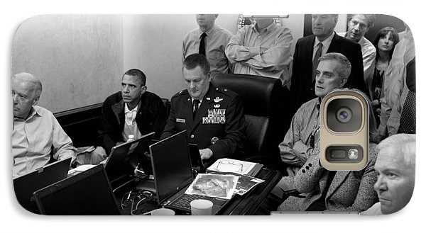 Hillary Clinton Galaxy S7 Case - Obama In White House Situation Room by War Is Hell Store