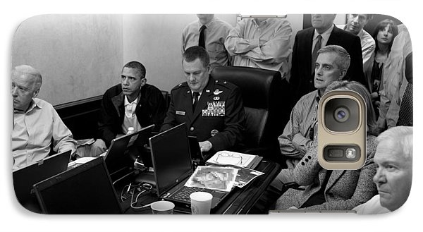Obama In White House Situation Room Galaxy S7 Case by War Is Hell Store