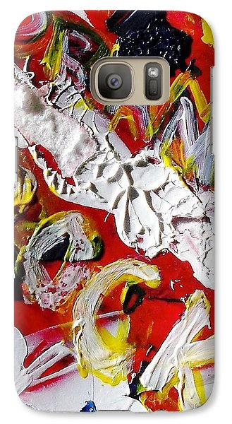 Galaxy Case featuring the painting Obama Rocks by Leslie Byrne