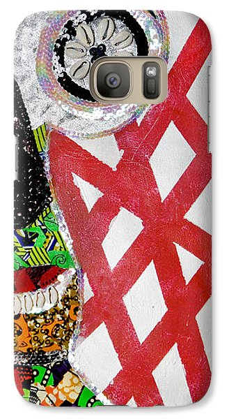 Galaxy Case featuring the tapestry - textile Obaoya by Apanaki Temitayo M