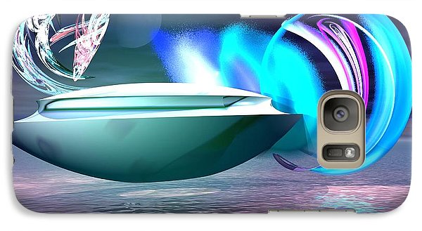 Galaxy Case featuring the digital art Objects Of Light by Jacqueline Lloyd