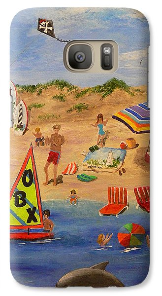 Galaxy Case featuring the painting Obx Beach by Catherine Hamill