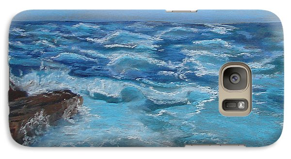 Galaxy Case featuring the drawing Ocean 1 by Joseph Hawkins