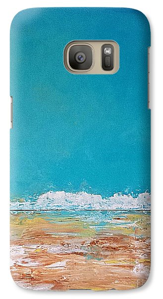 Galaxy Case featuring the painting Ocean 2 by Diana Bursztein