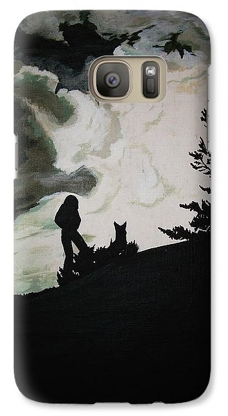Galaxy Case featuring the painting Ocean And I by Stuart Engel