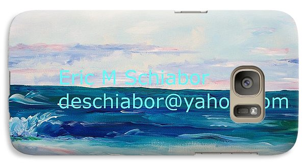 Galaxy Case featuring the painting Ocean Assateague Virginia by Eric  Schiabor