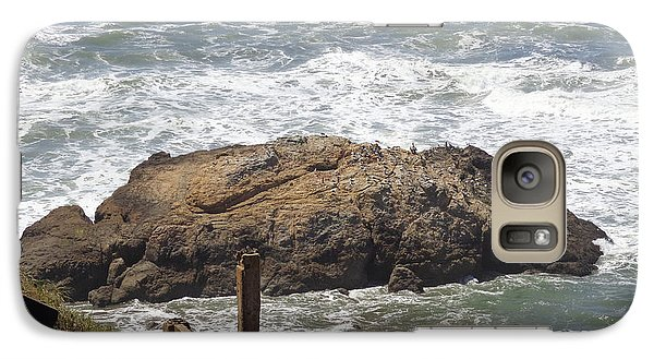 Galaxy Case featuring the pyrography Ocean Beach 2 by Hiroko Sakai