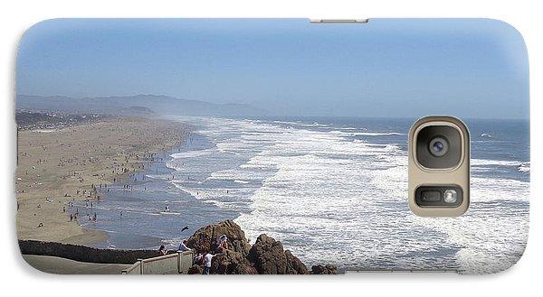 Galaxy Case featuring the pyrography Ocean Beach 3 by Hiroko Sakai