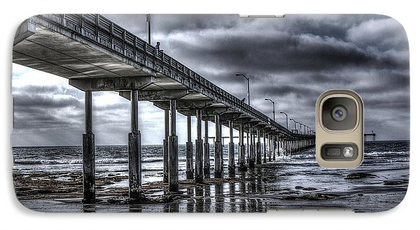 Galaxy Case featuring the digital art Ocean Beach Pier by Photographic Art by Russel Ray Photos
