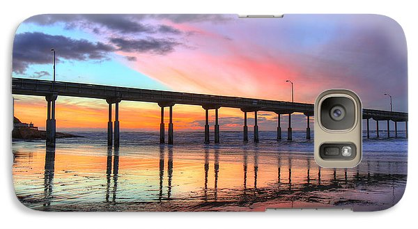 Ocean Beach Sunset Galaxy S7 Case by Nathan Rupert