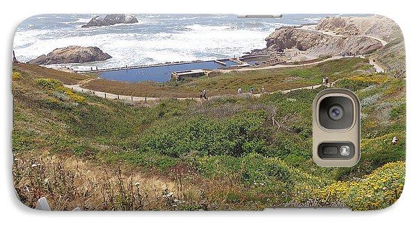 Galaxy Case featuring the pyrography Ocean Beach1 by Hiroko Sakai