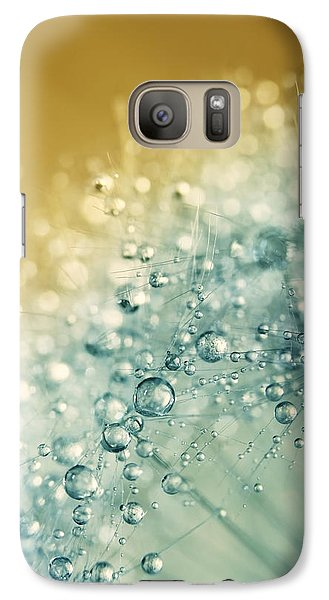Galaxy Case featuring the photograph Ocean Blue Dandy Sparkles by Sharon Johnstone
