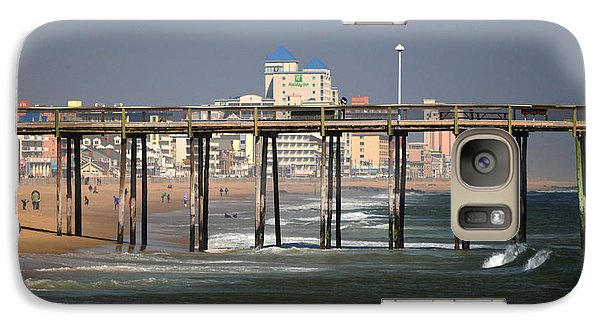Galaxy Case featuring the photograph Ocean City Fishing Pier In January by Bill Swartwout