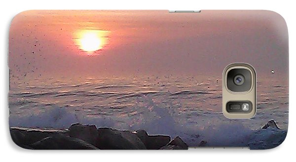 Galaxy Case featuring the photograph Ocean City Inlet Jetty At Sunrise by Robert Banach