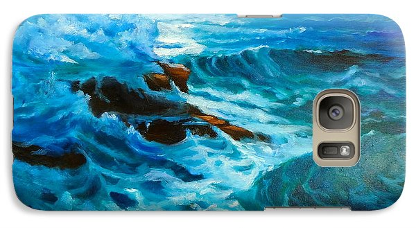 Galaxy Case featuring the painting Ocean Deep by Jenny Lee