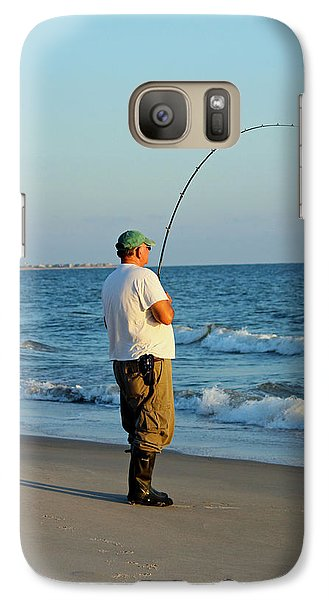 Galaxy Case featuring the photograph Ocean Fishing by Cynthia Guinn