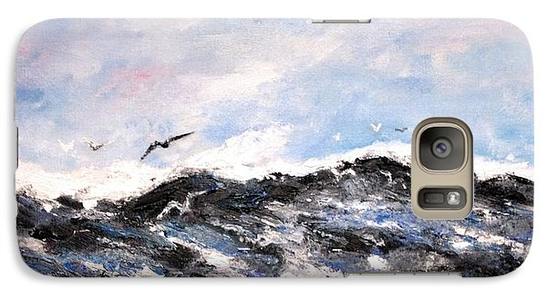 Galaxy Case featuring the painting Ocean Gulls by Stan Tenney