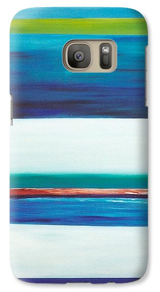 Galaxy Case featuring the painting Ocean Journey by Phoenix De Vries