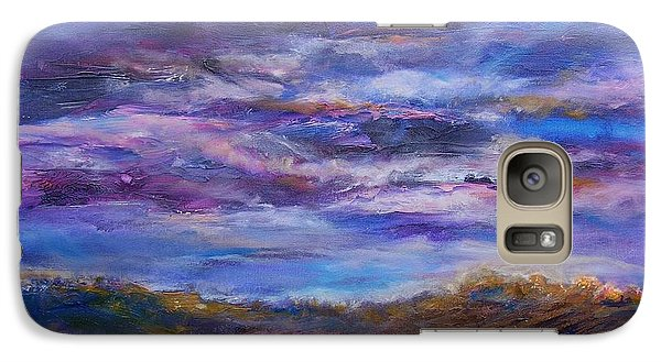 Galaxy Case featuring the painting Nightlight by Mary Schiros