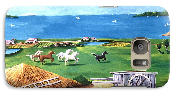 Galaxy Case featuring the painting Ocean Ranch by Lance Headlee