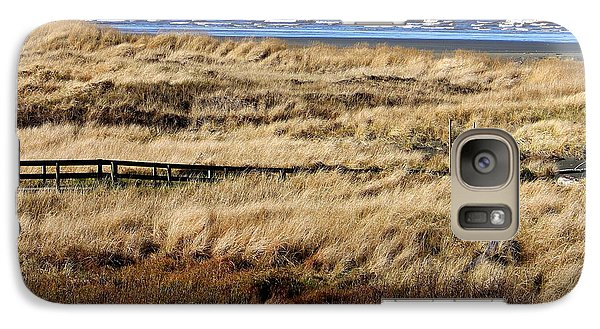 Galaxy Case featuring the photograph Ocean Shores Boardwalk by Jeanette C Landstrom
