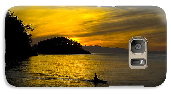 Galaxy Case featuring the photograph Ocean Sunset At Rosario Strait by Yulia Kazansky