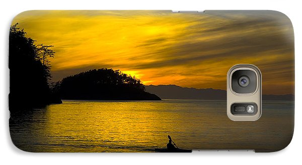 Ocean Sunset At Rosario Strait Galaxy S7 Case by Yulia Kazansky