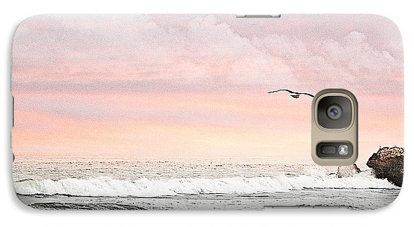 Galaxy Case featuring the photograph Ocean Sunset by Kathy Churchman