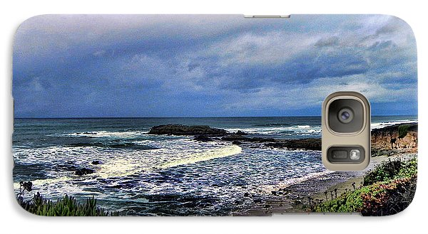 Galaxy Case featuring the photograph Ocean View by Kathy Churchman