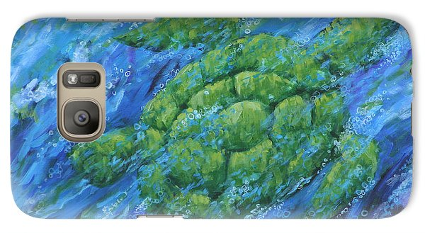 Galaxy Case featuring the painting Ocean Voyager by Penny Birch-Williams