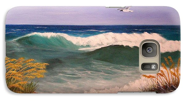 Galaxy Case featuring the painting Ocean Wave by Janet Greer Sammons