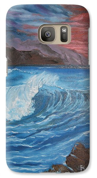 Galaxy Case featuring the painting Ocean Wave by Jenny Lee