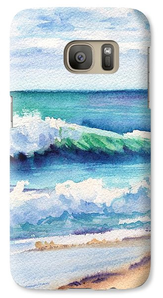 Galaxy Case featuring the painting Ocean Waves Of Kauai I by Marionette Taboniar