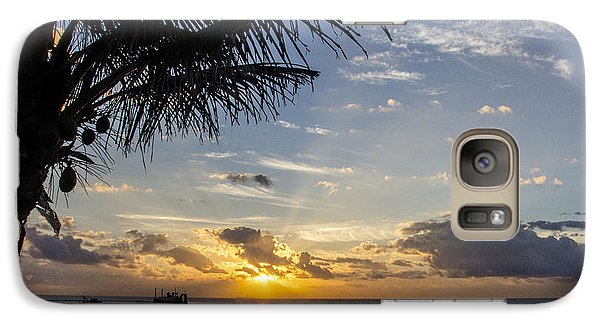 Galaxy Case featuring the photograph Oceanfront Park Sunrise 1 by Don Durfee
