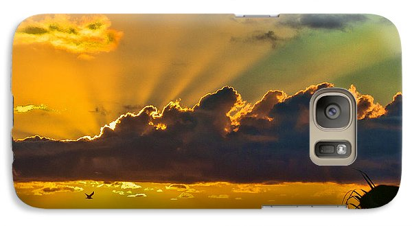 Galaxy Case featuring the photograph Oceanfront Sunrise by Don Durfee
