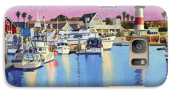 Oceanside Harbor At Dusk Galaxy Case by Mary Helmreich