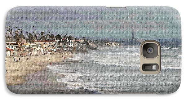 Galaxy Case featuring the photograph Oceanside South Of Pier by Tom Janca