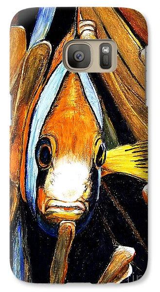 Galaxy Case featuring the drawing Ocellaris Clownfish by Daniel Janda