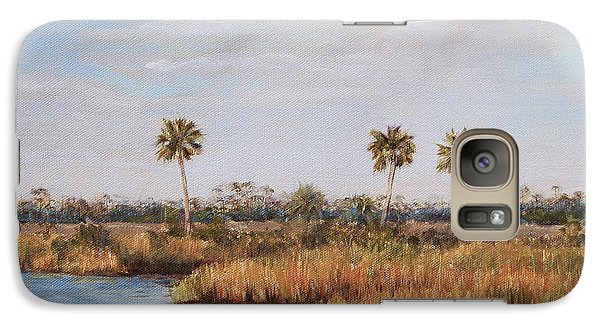 Galaxy Case featuring the painting Ochlockonee River Palms by Pam Talley