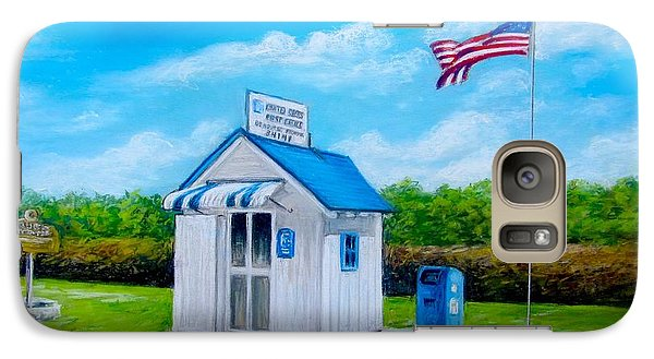 Galaxy Case featuring the painting Ochopee Post Office Country's Smallest Post Office by Melinda Saminski