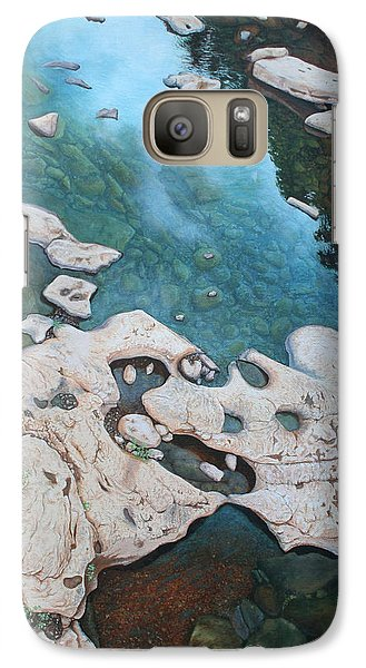Galaxy Case featuring the painting Ocoee River Low Tide by Mike Ivey