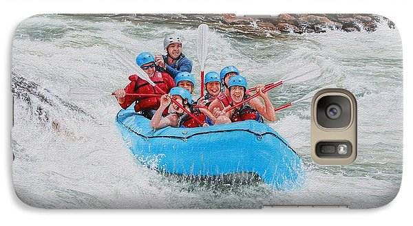 Galaxy Case featuring the painting Ocoee River Rafting by Mike Ivey