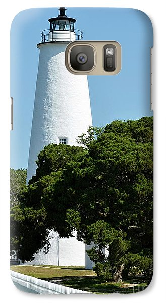 Galaxy Case featuring the photograph Ocracoke Island Light by Mel Steinhauer