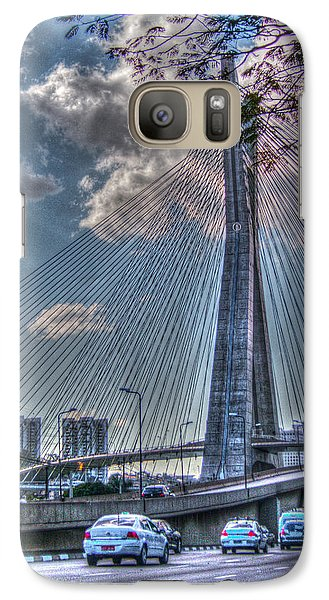 Galaxy Case featuring the photograph Octavio Frias De Oliveira Bridge by Ross Henton