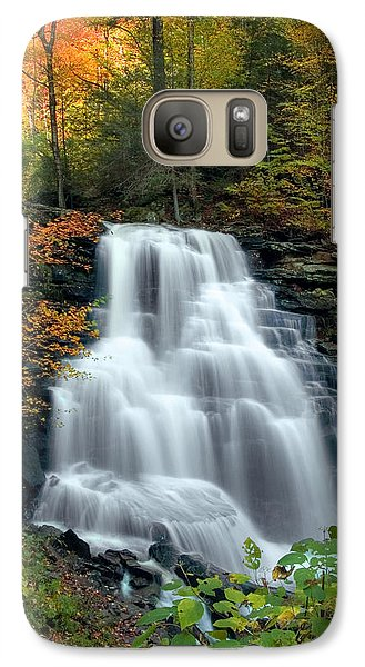 Galaxy Case featuring the photograph October Foliage Surrounding Erie Falls by Gene Walls